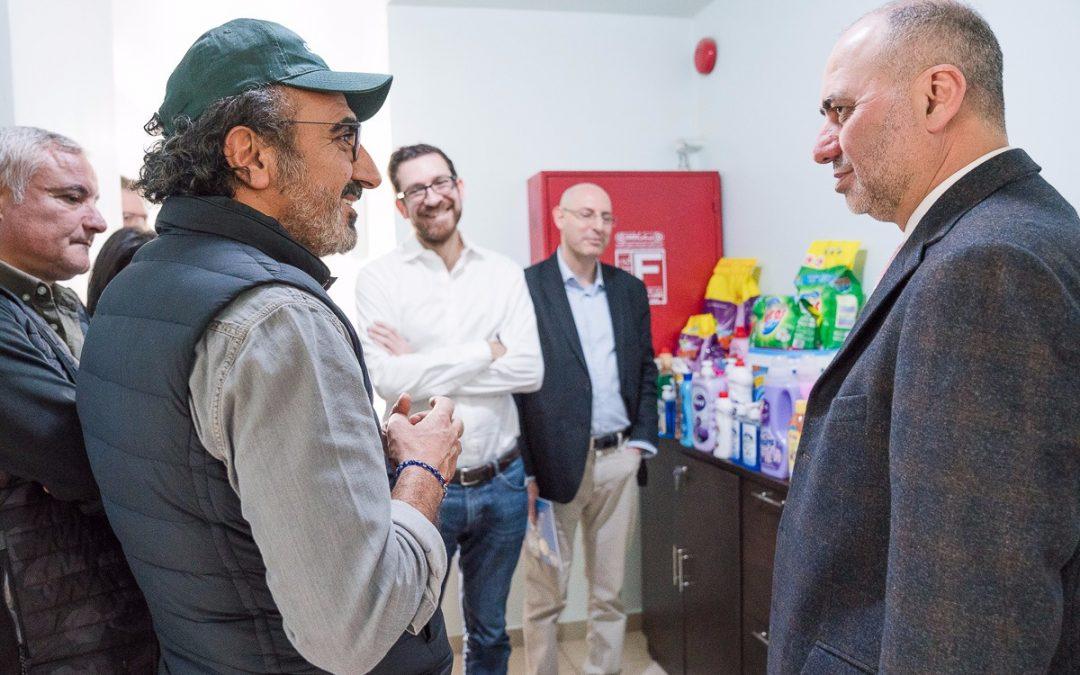 لقاء ممثل مجلس ادارة SIBA السيد محمد الشاعر مع رئيس شركة Chobani