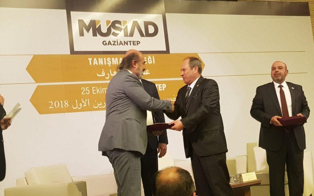 جمعية SIBA في تركيا تعقد عشاء عمل مع جمعية  MÜSİAD في غازي عنتاب